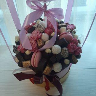 купить коробку с шаром и конфетами