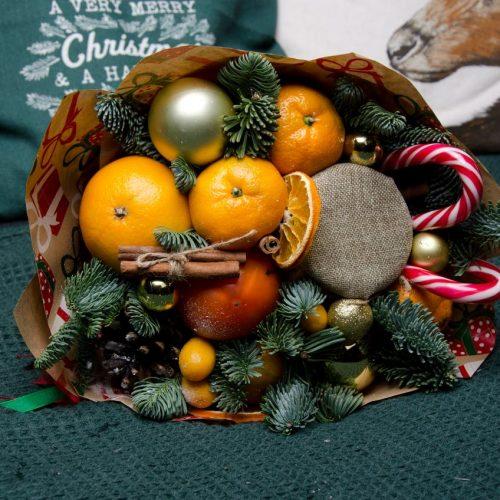 новогодний букет с лединцом