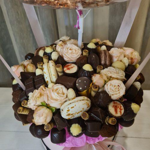 коробка с конфетами и шаром Купить